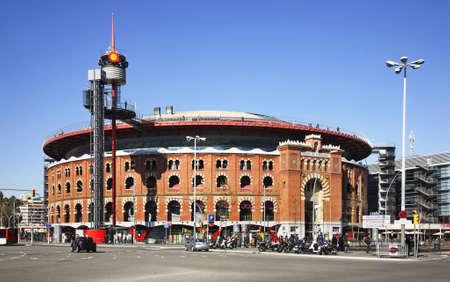 Les Arenes on Plaza de Espana (square of Spain) in Barcelona. Spain