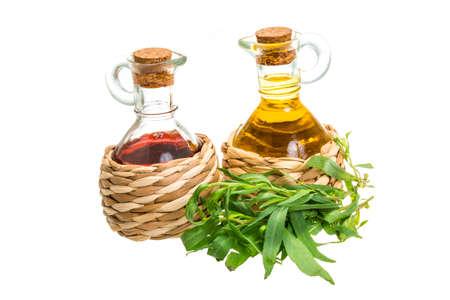 Vinegar, oil and tarragon