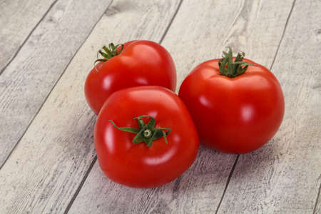 Photo for Ripe juicy red big tomatoes - Royalty Free Image