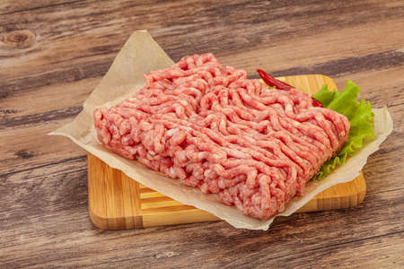 Photo pour Minced meat - pork and beef - for cooking - image libre de droit