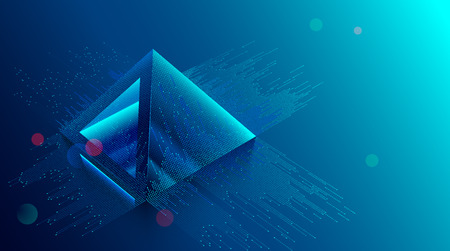 Photo for blockchain concept. Digital currency mining. Big Data Technology background. Financial pyramid consists of digits. - Royalty Free Image