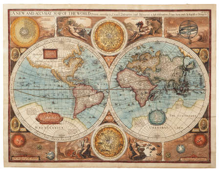 Old map  1626    A new and accvrat map of the world