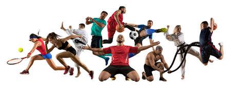 Photo for Huge multi sports collage taekwondo, tennis, soccer, basketball, football, judo, etc - Royalty Free Image