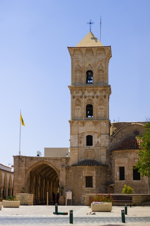 LARNACA, CYPRUS - AUGUST 08, 2018. Church of St. Lazarus. Popular tourist destination