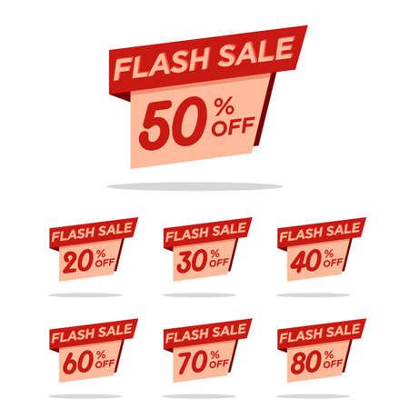 Illustration pour fflash sale tag discount pack for your promotion sales. website sales template. online shop. material. sales background. badge discount pack - image libre de droit