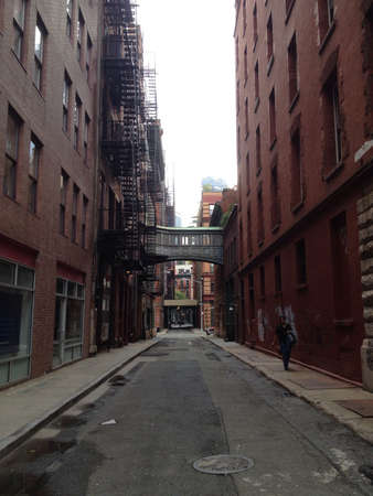 An alley in TriBeCa Manhattan NYC.