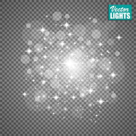 Glow light effect. Christmas flash concept illustration.