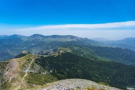 Dirfi mountain landscape in Euboea in Greece