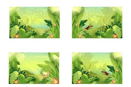 Illustration pour jungle - image libre de droit