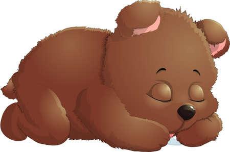 Ilustración de Sleeping bear in Isolated on white background - Imagen libre de derechos