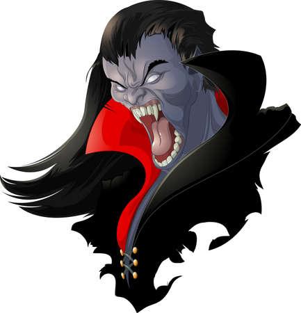 Illustration pour evil vampire - image libre de droit