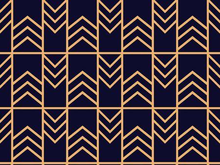 Illustration pour Art deco seamless pattern. Linear geometric art of the 20s in retro style. Vector illustration - image libre de droit