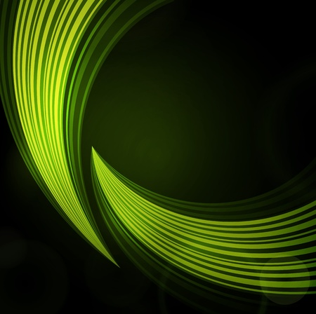 green background with waves of light