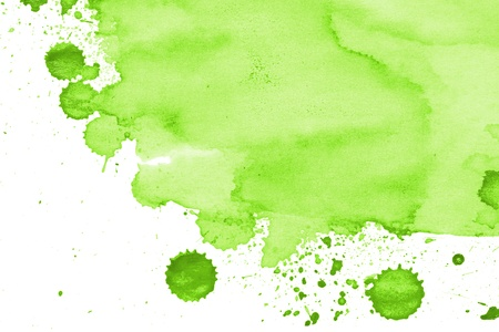 Green Watercolor Splotch