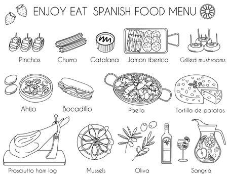 Ilustración de Spanish food icon vector illustration - Imagen libre de derechos