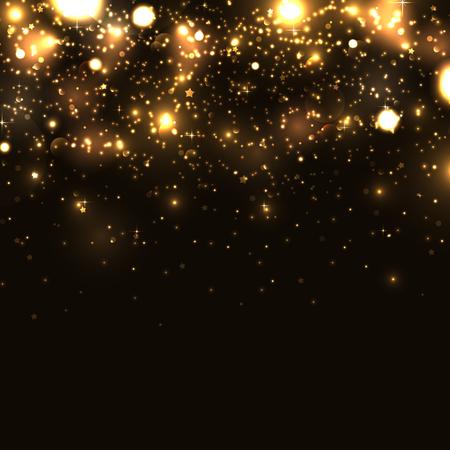 Ilustración de Shiny sparkles on black background - Imagen libre de derechos