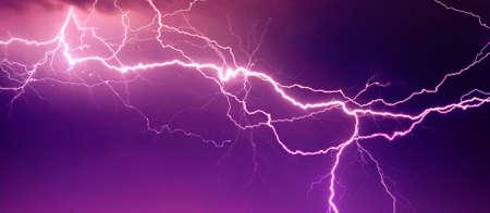 Big lightning on the sky