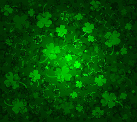 St  Patricks day background with clovers