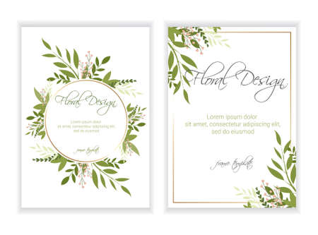 Foto de Banner on flower background. Wedding Invitation, modern card Design. eps 10. - Imagen libre de derechos