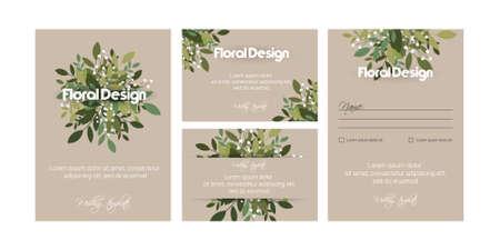 Illustration pour Banner on flower background. Wedding Invitation, modern card Design. eps 10. - image libre de droit