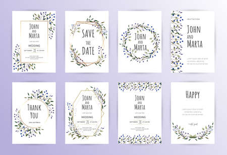 Illustration for Floral Wedding Invitation - Royalty Free Image