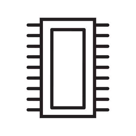 Simple thin line ic icon vector