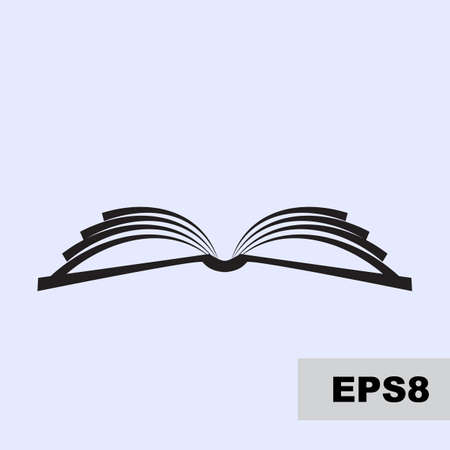 Illustration pour Open book vector simple icon. Magazine, library or school logo isolated, education symbol - image libre de droit