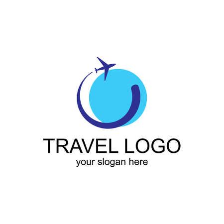 Illustration for Travel Logo Template. Vector Design for the booking office or travel agency - Royalty Free Image