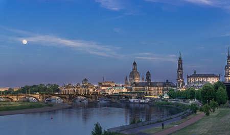 Dresden by night, Germany