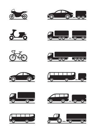 Foto für Road vehicles icons - Lizenzfreies Bild