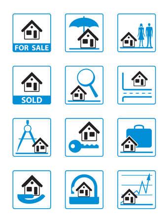 Real estate icons set - vector illustration