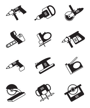 Power tools for construction - vector illustration
