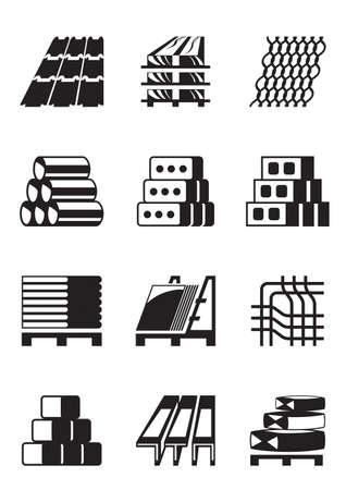 Illustration pour Building and construction materials - image libre de droit