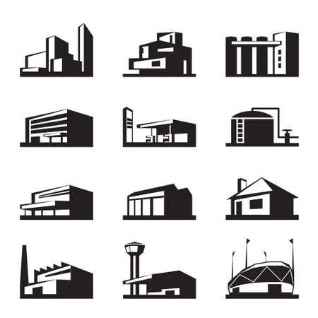 Illustration pour Various types of construction -  illustration - image libre de droit