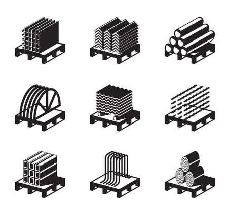 Metal building materials - vector illustration