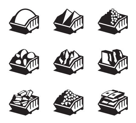 Illustration pour Containers with building materials - illustration - image libre de droit