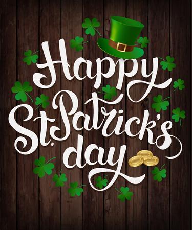 Illustration pour Happy St. Patrick s Day lettering Vector illustration. - image libre de droit