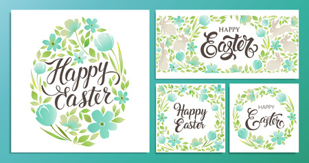 Illustration pour Happy Easter Vector templates card, poster, flyer and other users. - image libre de droit