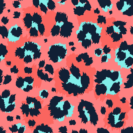 Ilustración de Leopard pattern design funny drawing seamless pattern. Lettering poster or t-shirt textile graphic design wallpaper wrapping paper. - Imagen libre de derechos