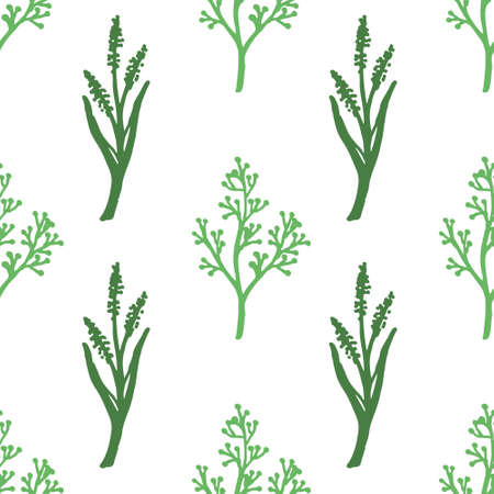 Illustration for vintage set of hand drawn tree branches with leaves and flowers - Royalty Free Image