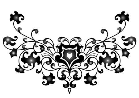 Illustration of abstract ornament in black color