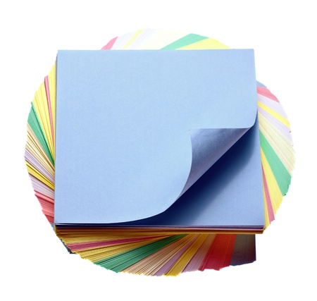 sheets of colored paper to make notes