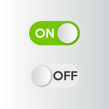 Illustration pour Icon On and Off toggle switch button. Vector illustration. - image libre de droit
