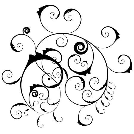 Vector floral ornate pattern for design use