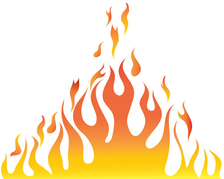 Illustration for Vector illustrations body of flame on white background - Royalty Free Image