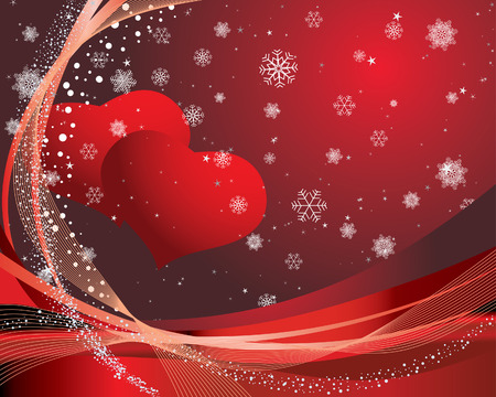 St. Valentine Day greeting card with hearts