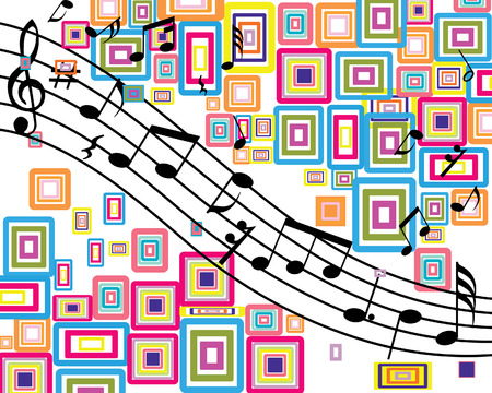 Musical notes stuff vector background for use in design
