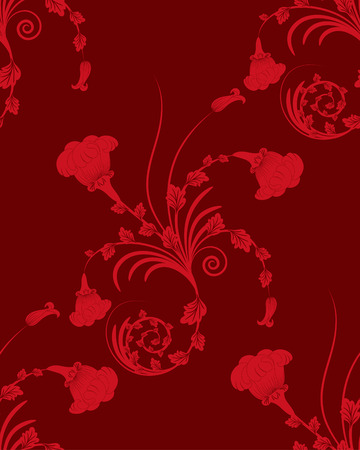 Seamless vector floral background for design use