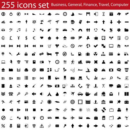 Ilustración de Biggest collection of different vector icons for using in web design - Imagen libre de derechos