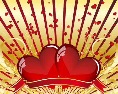 Abstract Valentine's day card. Vector illustration.